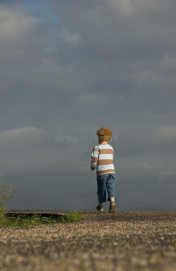 Rapaz pequeno do Determent imagem de stock royalty free