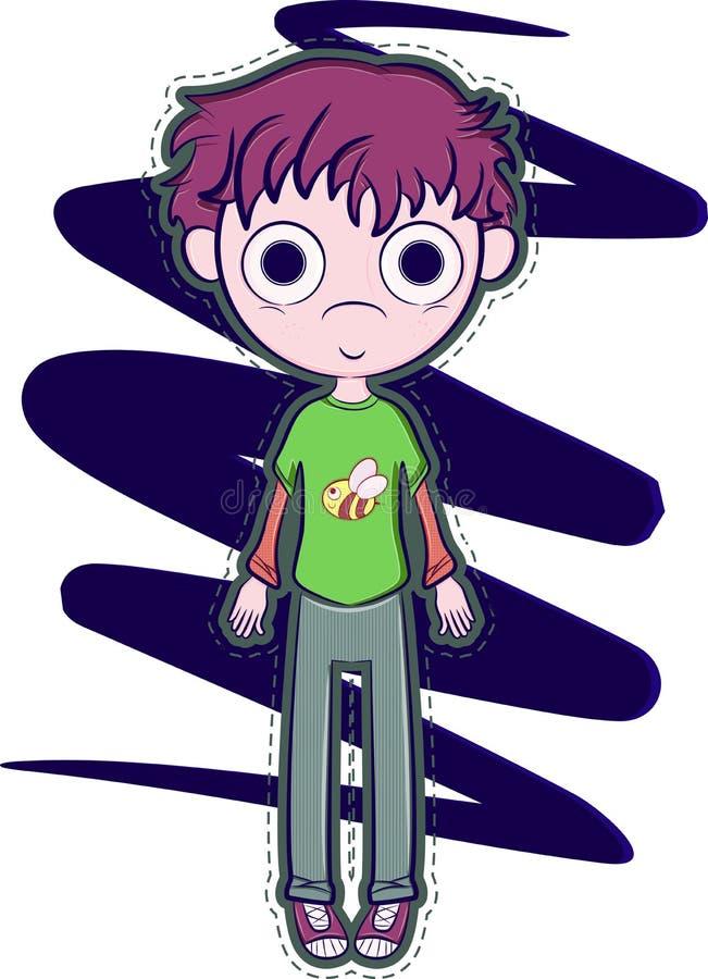 Rapaz pequeno feliz ilustração do vetor