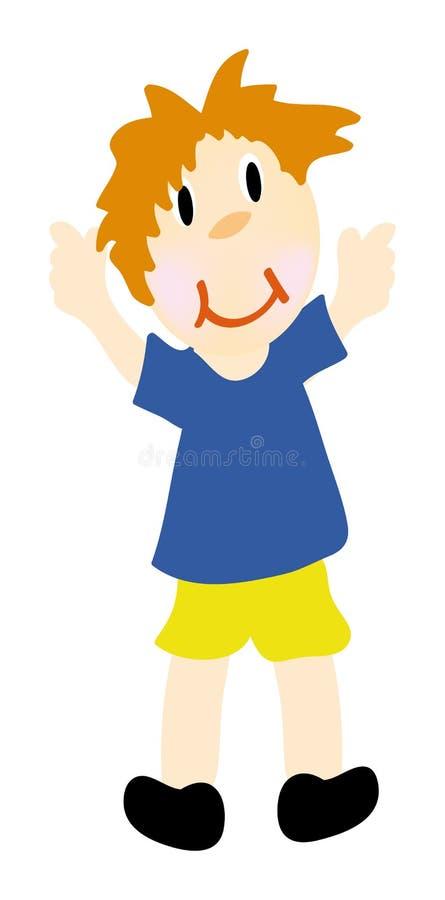 Rapaz pequeno feliz do vetor ilustração royalty free