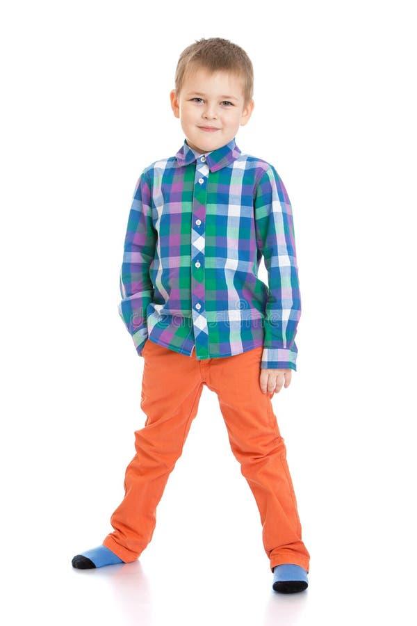 Rapaz pequeno na moda imagens de stock