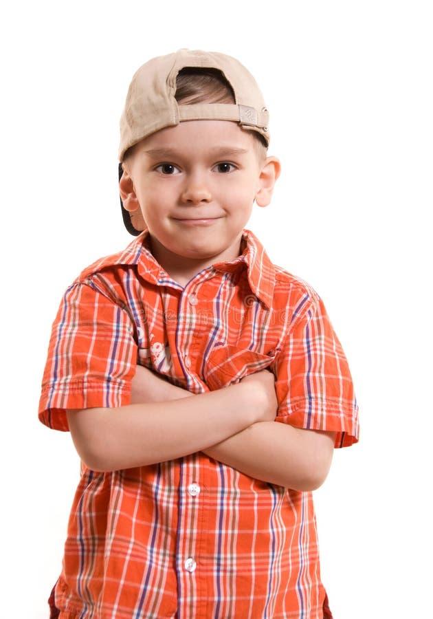 Rapaz pequeno orgulhoso foto de stock royalty free