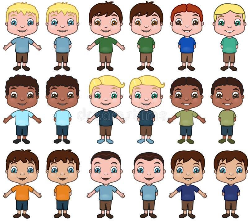 Rapazes pequenos ilustração royalty free