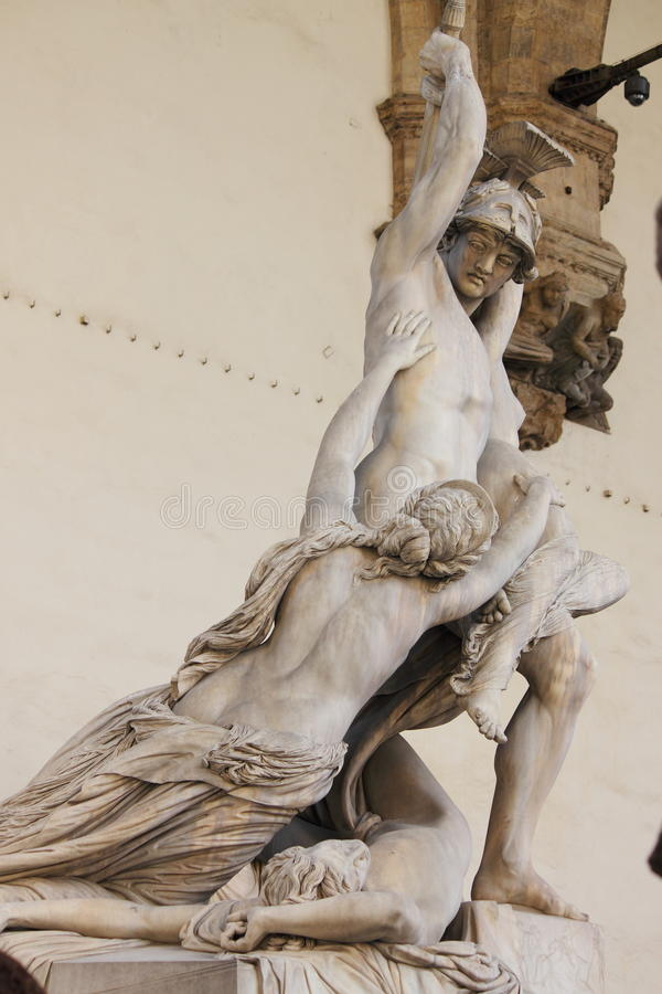 The of Polyxena. Statue in Florence, Italy stock photos