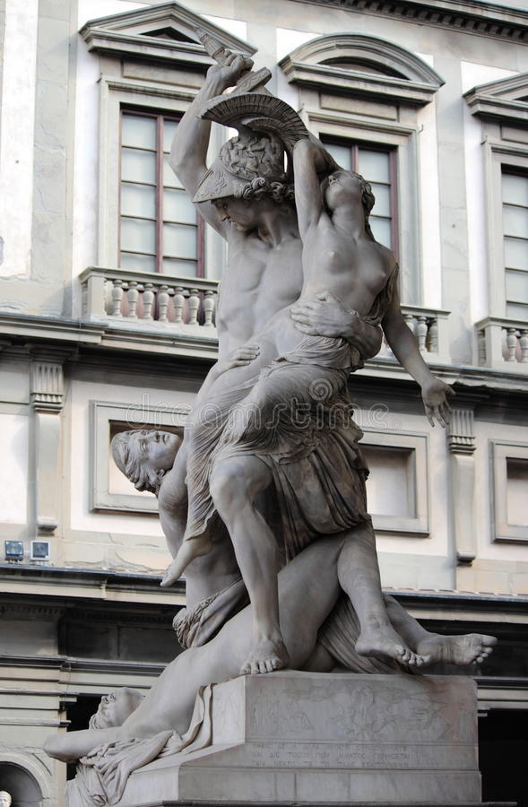The of Polyxena. Statue in Florence, Italy stock photo