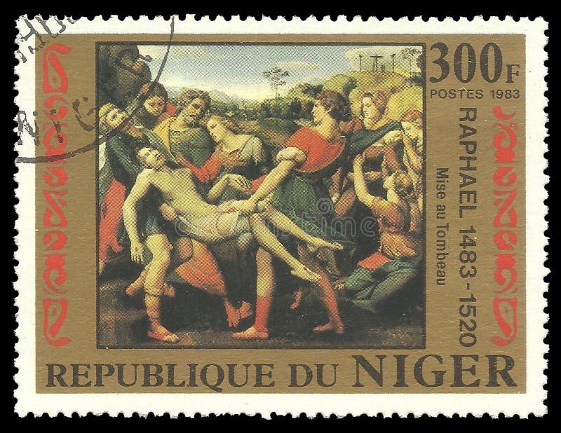Raphael绘画理葬 库存图片