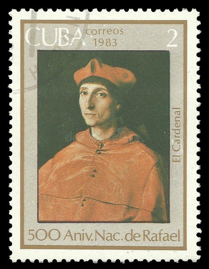 Raphael,主教画象  免版税库存照片