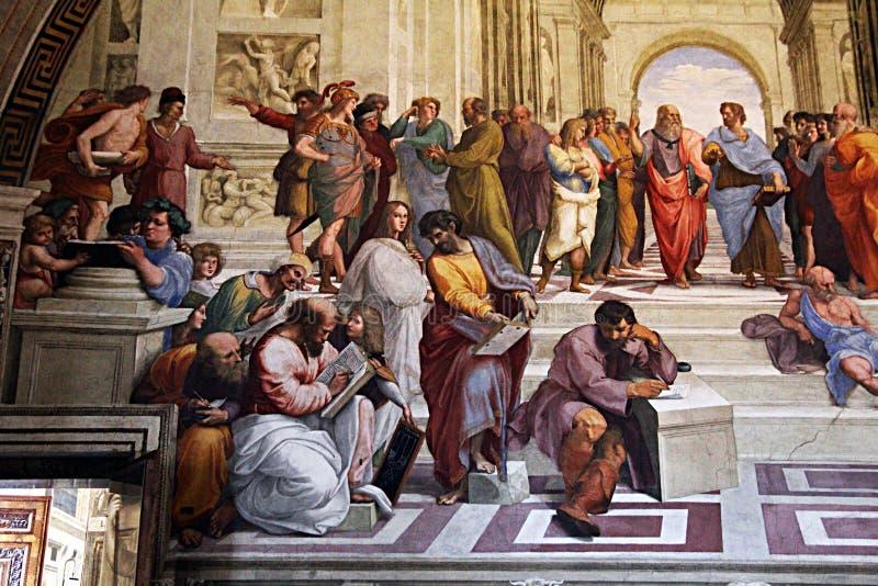 Raphael школы Афин стоковые изображения rf