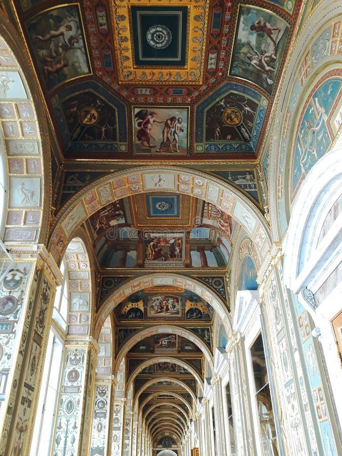 Raphael de la logia en la ermita fotos de archivo