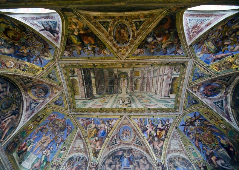 Raphael Rooms - Hall de Constantine images stock