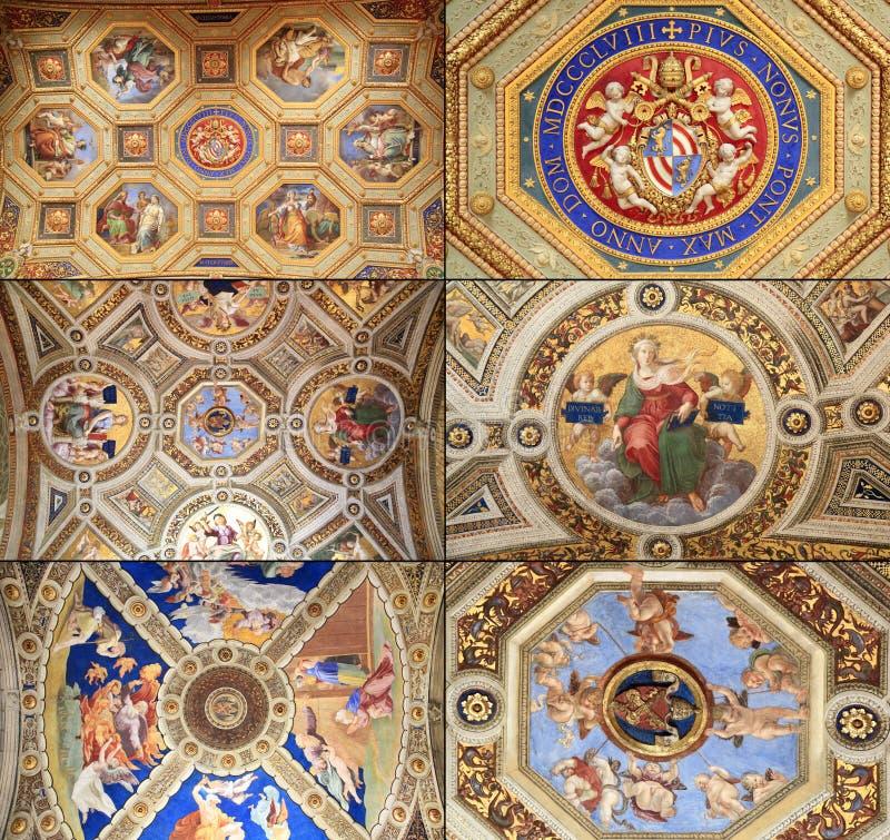 Raphael Rooms (Stanze di Raffaello), Vaticano, Roma immagine stock
