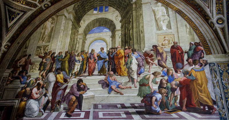 Raphael Sanzio ścienny obraz obraz stock
