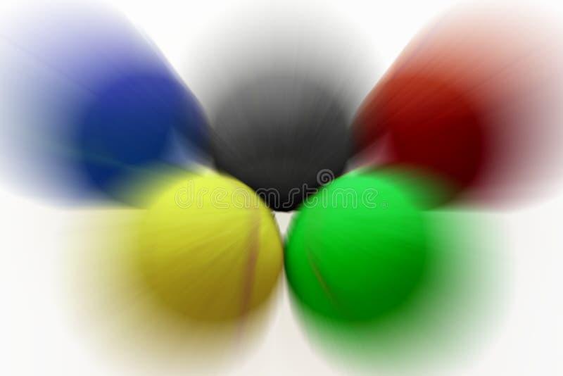 rapid шариков олимпийский звенит теннис стоковое изображение
