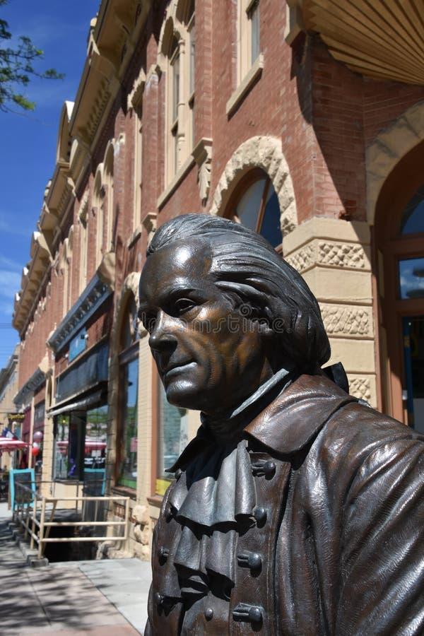 Statue of Tom Jefferson stock image