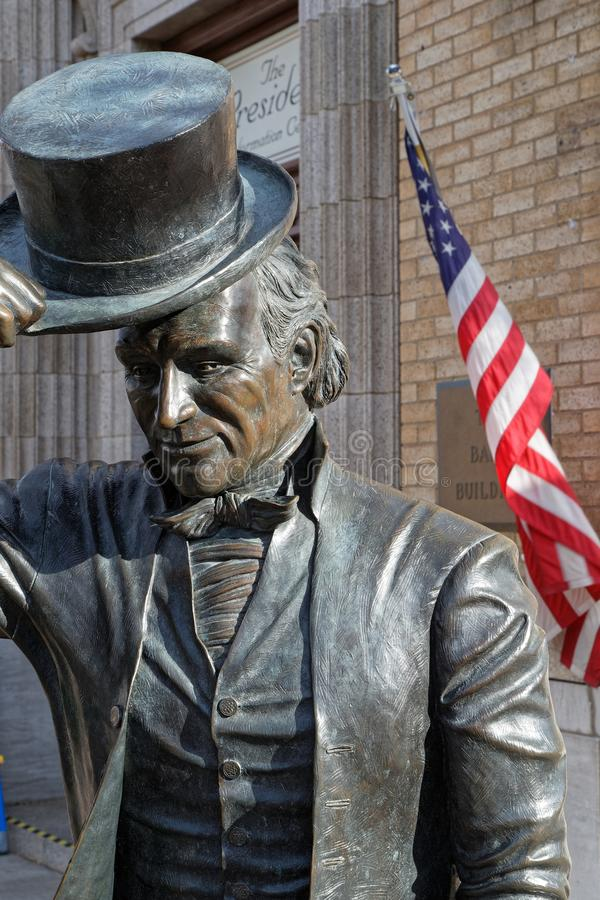 James Monroe statue at the City of Presidents stock photo