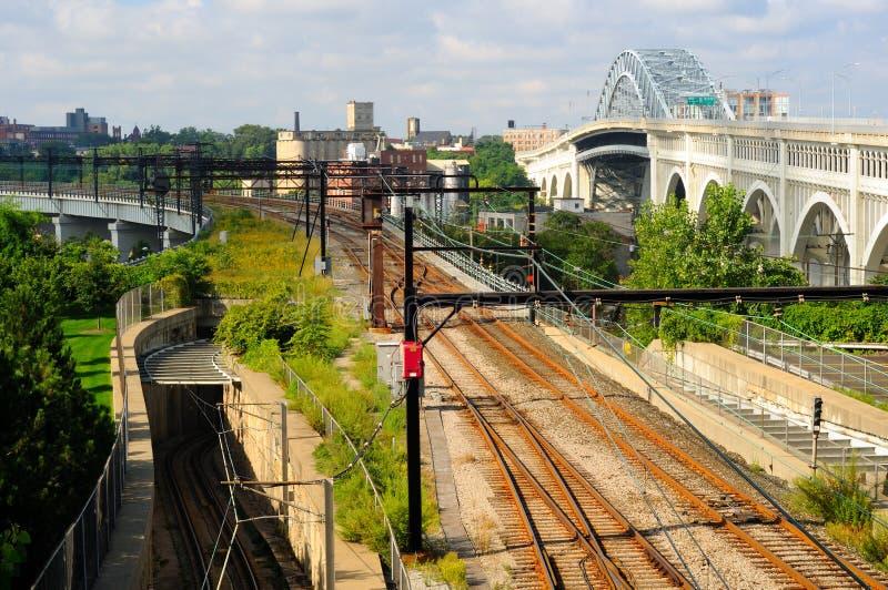 Download Rapid transit tracks stock image. Image of line, silver - 21439369
