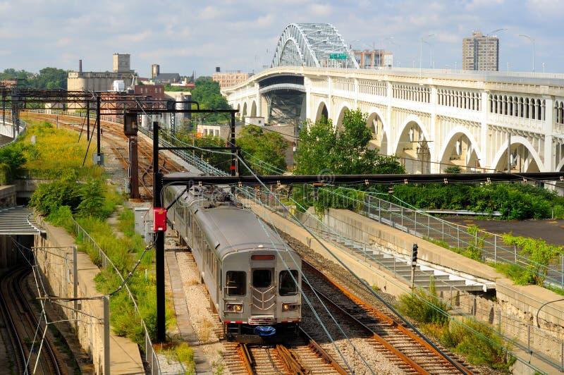 Rapid transit train stock photo