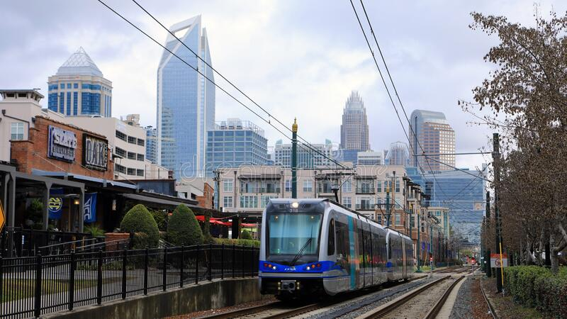 Rapid Transit vehicle in Charlotte, United States. A Rapid Transit vehicle in Charlotte, United States stock photography
