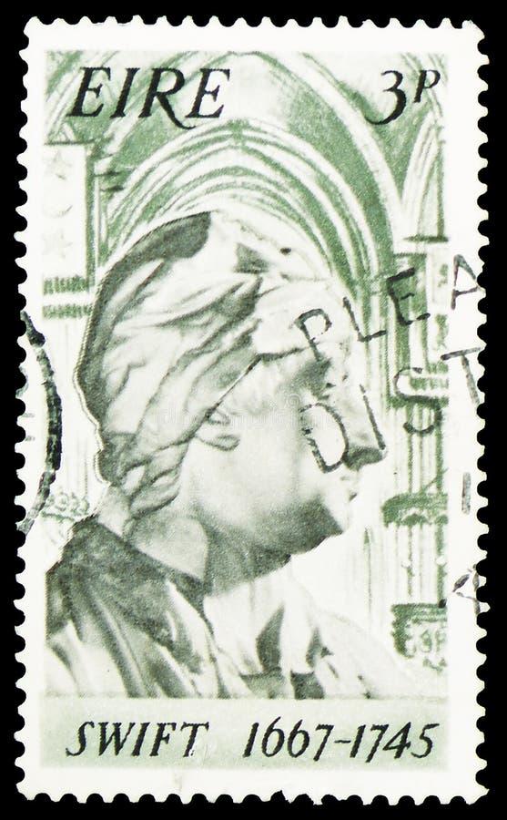 1667-1745 rapide, 30ème anniversaire de naissance de serie de Jonathan Swift, vers 1967 photo stock