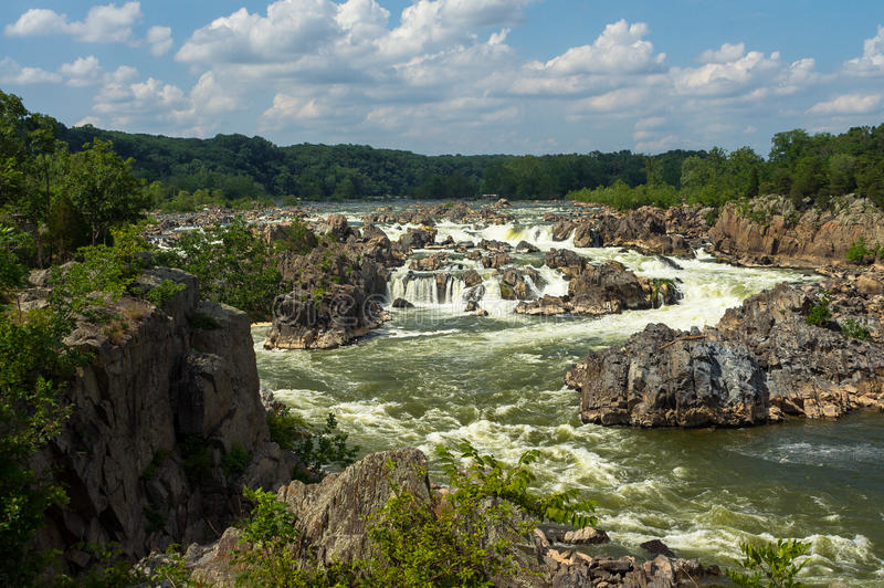 Rapide au parc national de Great Falls image stock