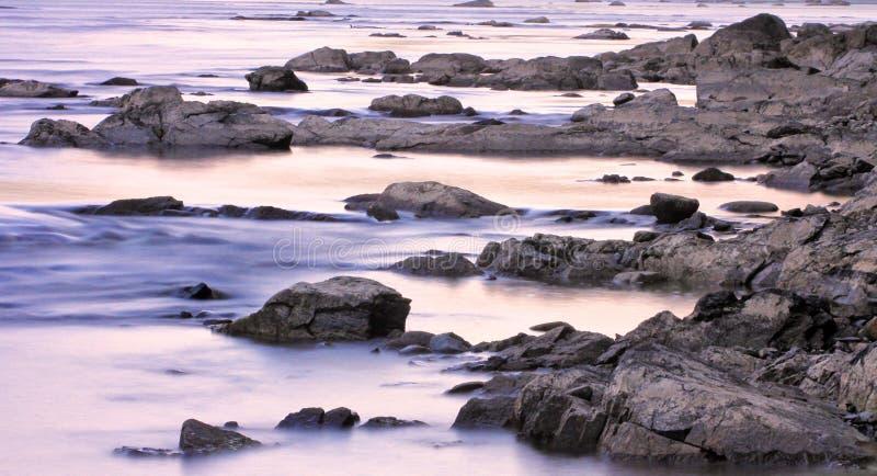 Rapide e rocce del fiume di St Croix immagini stock libere da diritti