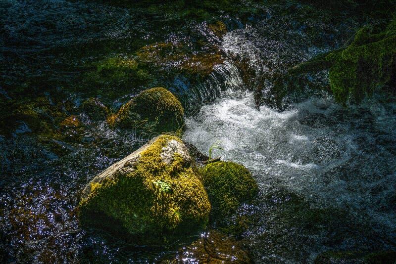 Rapide sull'insenatura di Manzanita, parco nazionale di Lassen fotografia stock