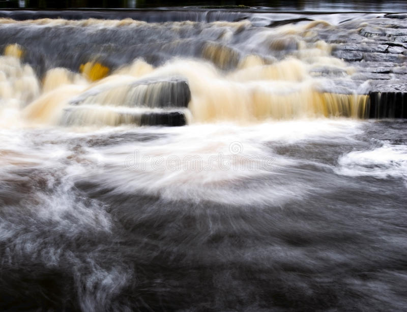 Rapids. Detail of rapids with embedded rocks in Hardcastle Crags royalty free stock images