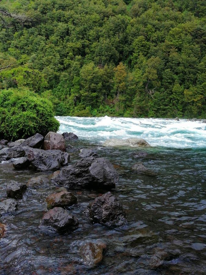 Rapids al fiume Petrohue immagine stock libera da diritti