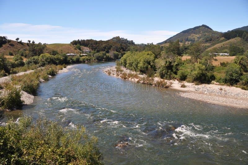 Rapids de fleuve de Motueka, Nouvelle Zélande photographie stock libre de droits