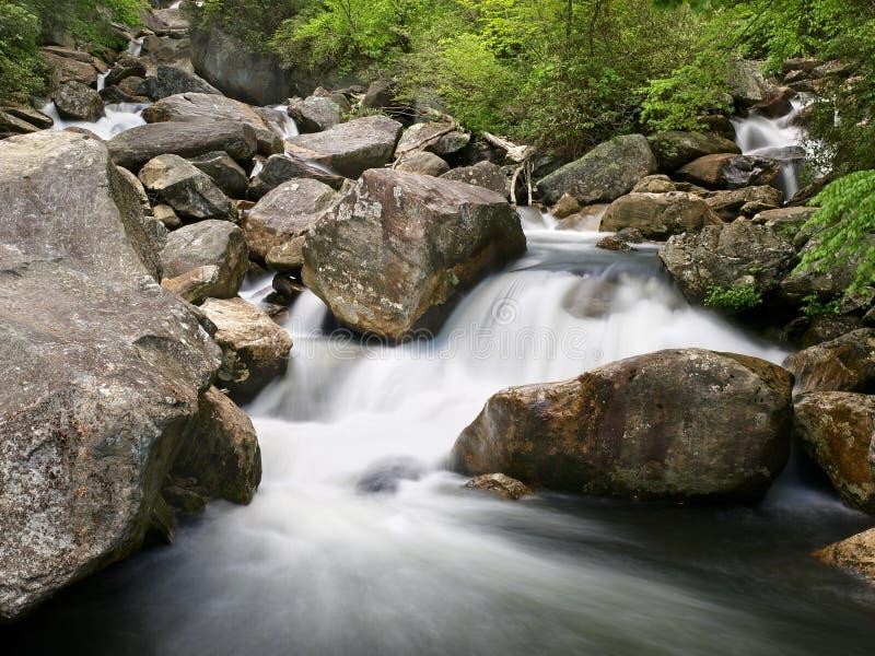 Rapids del fiume della montagna immagini stock