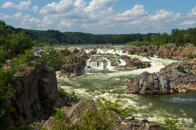Rapids at Great Falls National Park stock image