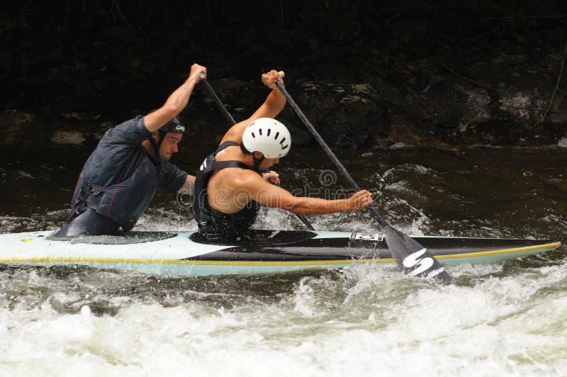 rapids kayak тандемные стоковые изображения