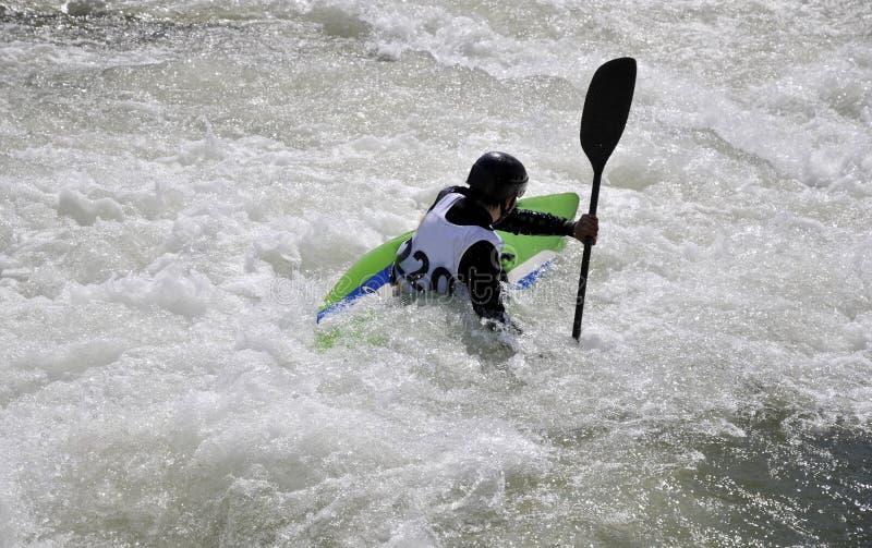 rapids kayak стоковое фото
