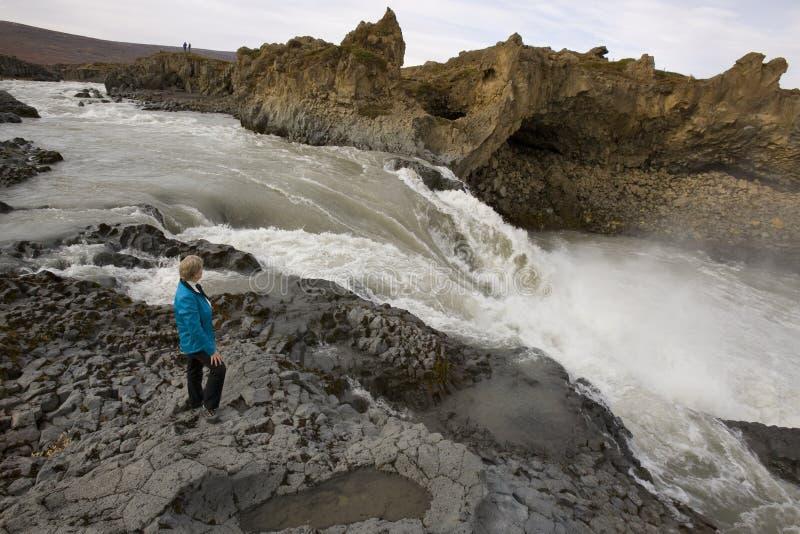 Download Rapids Near Godafoss Waterfall - Iceland Stock Image - Image: 22465793