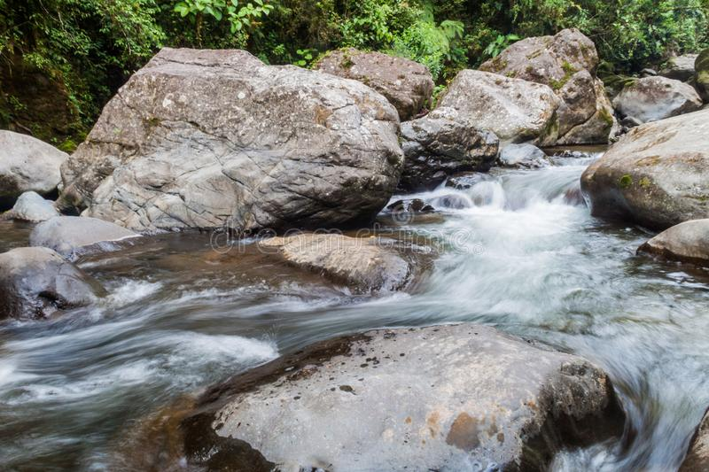 Rapids of Rio Hornito river in Pana. Ma royalty free stock photos