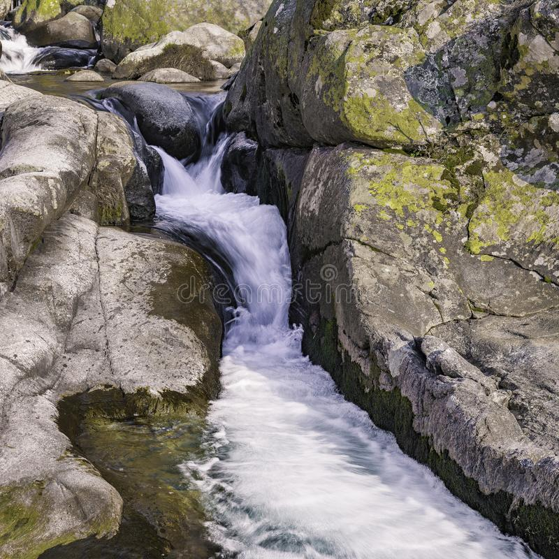 Rapids of a river. gredos stock images
