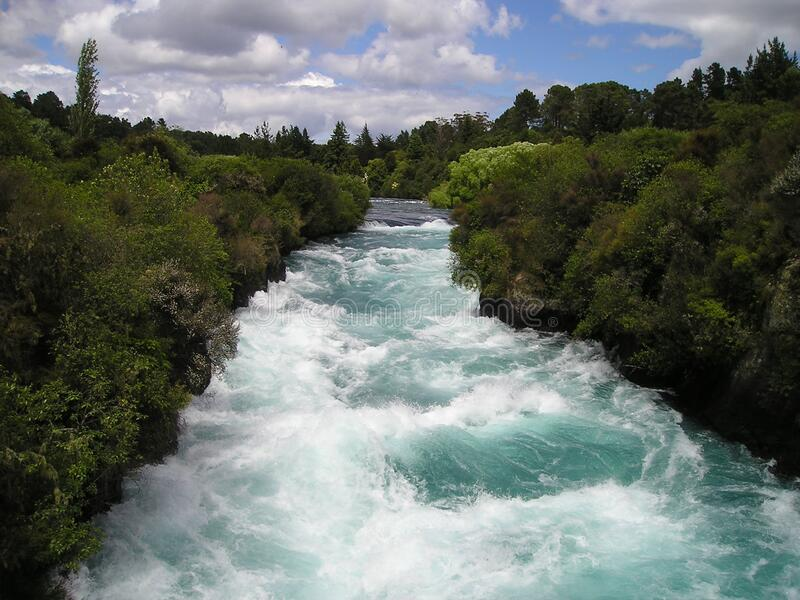 Rapids on river, New Zealand stock photos