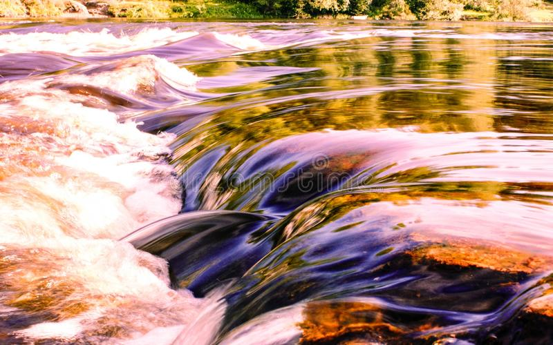 Rapids. On the river Shuya. Karelia stock images