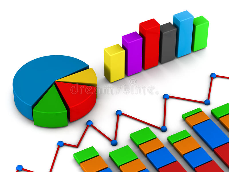Raportów wykresu diagram ilustracja wektor