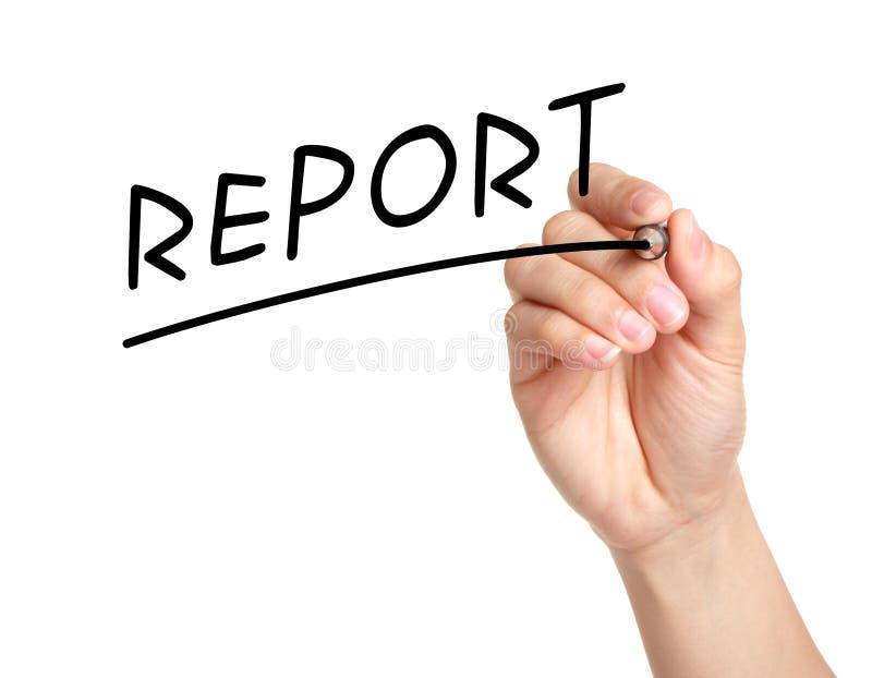 Raport zdjęcie royalty free