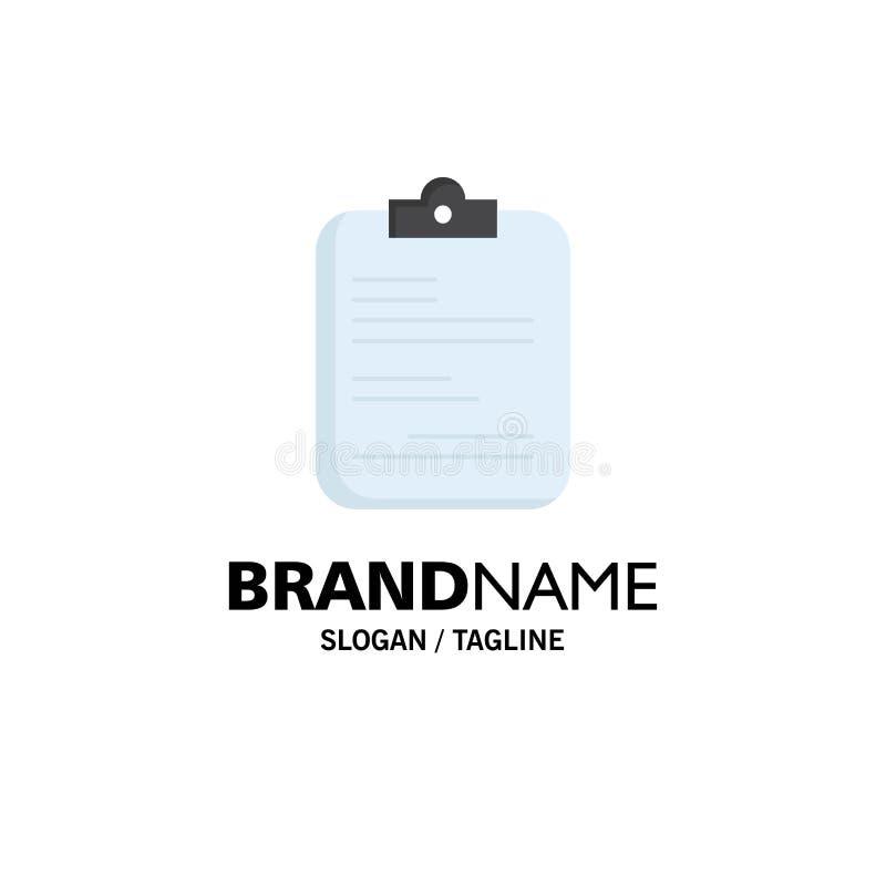 raport, medyczny, papierowy, lista kontrolna, dokument — wektor ikony o płaskim kolorze royalty ilustracja