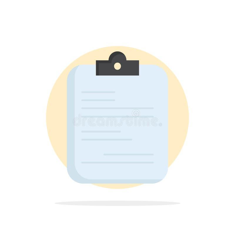 raport papierowy, medyczny, lista kontrolna, dokumentu koloru ikony Płaski wektor royalty ilustracja