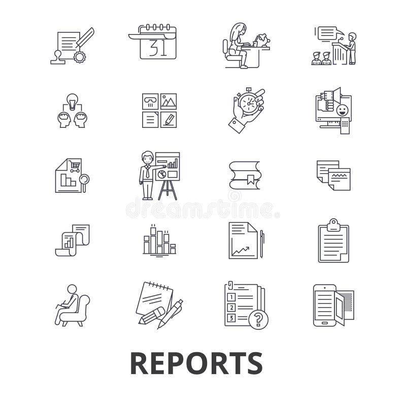 Raport powiązane ikony royalty ilustracja
