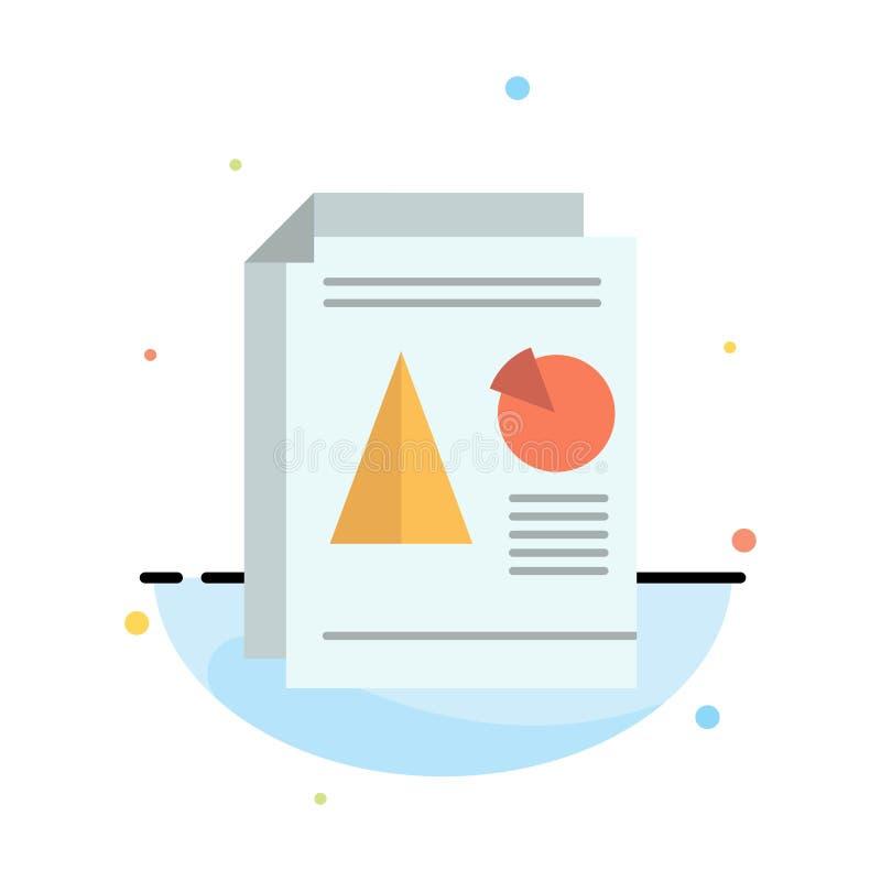 Raport, prezentacja, kulebiak, mapa, Biznesowy Abstrakcjonistyczny Płaski kolor ikony szablon ilustracji