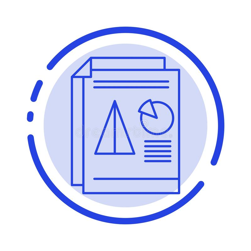 Raport, prezentacja, kulebiak, mapa, Biznesowy błękit Kropkująca linii linii ikona ilustracji