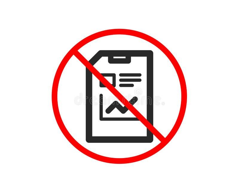 Raportowa dokument ikona Kartoteka znak wektor ilustracja wektor