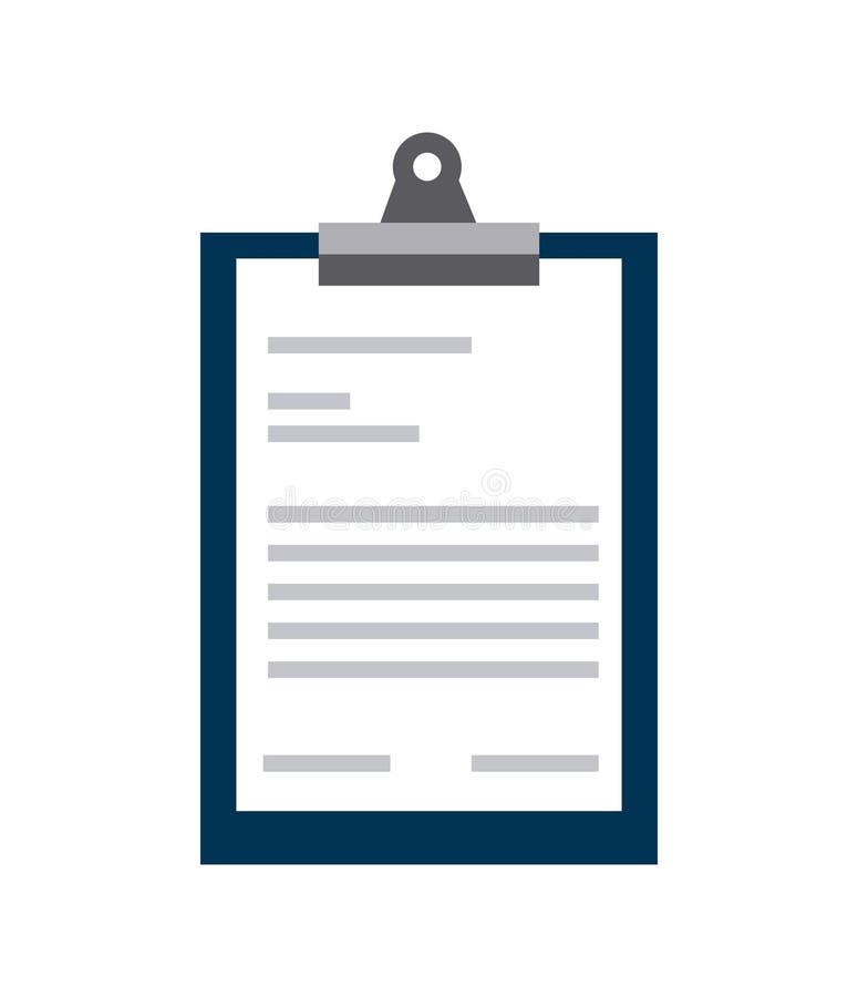 Raportowa stołowa ikona ilustracji