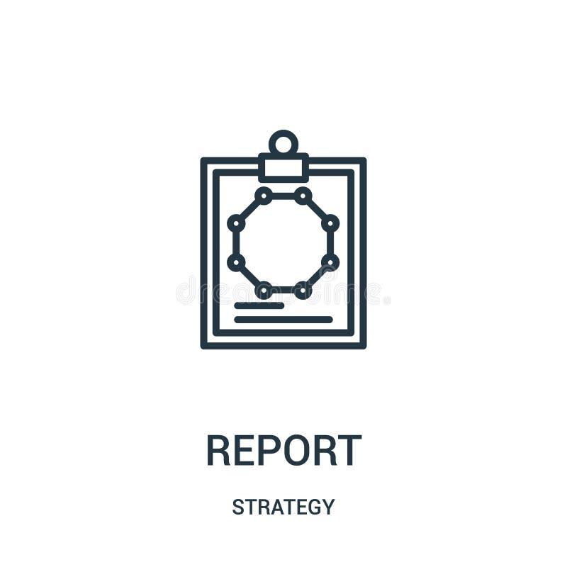 raportowy ikona wektor od strategii kolekcji Cienka linia raportu konturu ikony wektoru ilustracja Liniowy symbol ilustracji