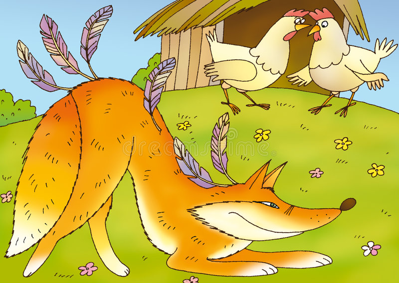 A raposa astuta ilustração royalty free