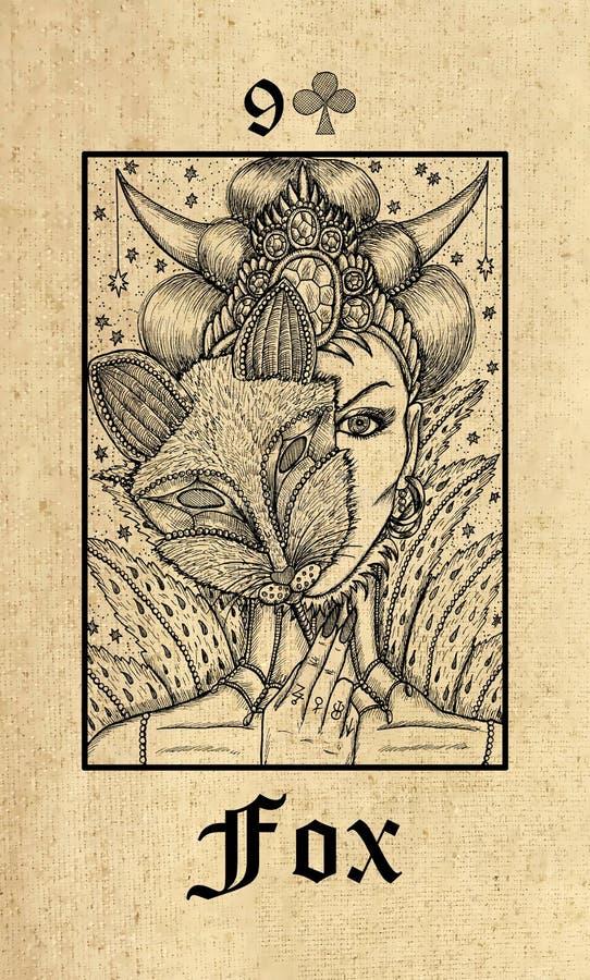 raposa E ilustração do vetor