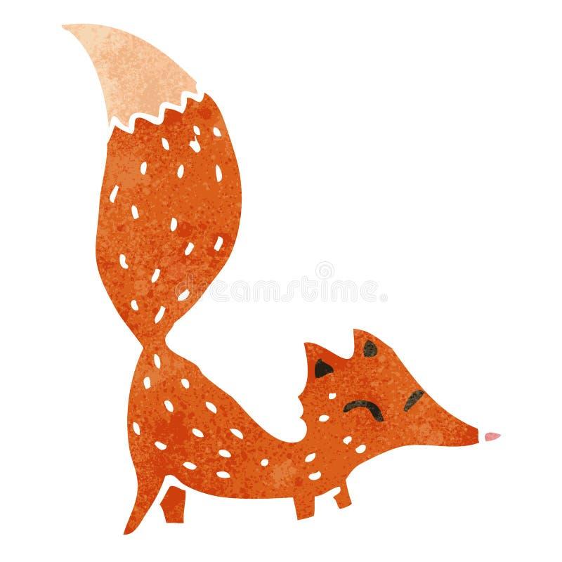 raposa retro dos desenhos animados ilustração stock